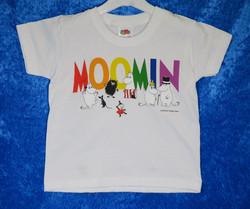 T-paita Moomin, valkoinen lasten Muumipaita koot 92-104 kids