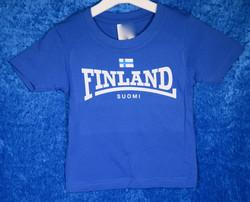 T-paita lasten suomipaita, koot 74-128cm, royal sininen, kids