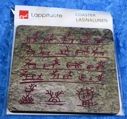 Lasinalunen kalliomaalaukset n. 10x10cm kova