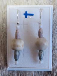 Korvakorut poronluuhelmi ja vaalea jaspis AILE