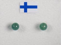 Nappikorvakorut aventuriini vihreä 4mm
