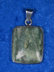 Riipus: Fuksiitti, kookas, 925-hopea-silver. Unikki!