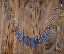 Kaulakoru: Lapis latsuli 47cm, 925-hopea. (1) Unikki!