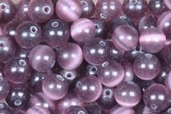 Kissansilmä kuitulasi violetti 6mm  irtohelmi