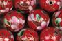 Cloisonhelmi 14mm punainen irtohelmi