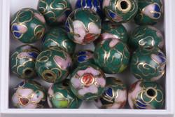 Cloisonhelmi 7mm vihreä Irtohelmi