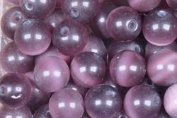Kissansilmä kuitulasihelmi violetti 8mm