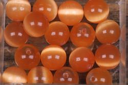 Kissansilmä kuitulasi oranssi 8mm irtohelmi