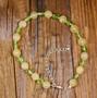 Rannekoru vihreä peridootti ja keltainen kalsiitti 18-23cm Olive5