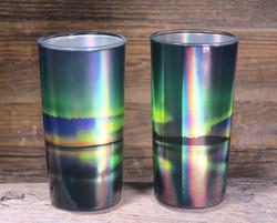 Juomalasit 2kpl Revontulilasit 2dl, hologrammikuvat