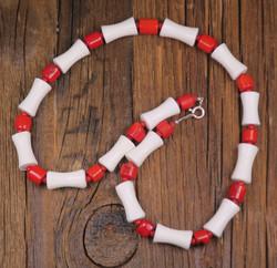 Helmet: Koralli 42cm, puna/valkoiset (alli2) Unikki!
