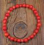Rannekoru punainen koralli 16cm, puolukka