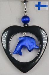 Riipus sininen delfiini hematiittisydän