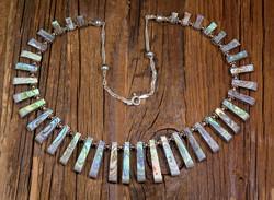 Kaulakoru: simpukkakaulakoru, 44cm, 925-hopea. Unikki!