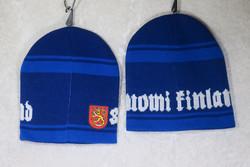 Pipo Finland, brodeerattu vaakunaleijona, royal sininen