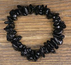 Rannekoru tektiitti musta sipsi 10-15mm