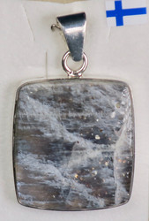 Riipus gelioliitti 45mm, kivi 30x28mm, 925-hopea