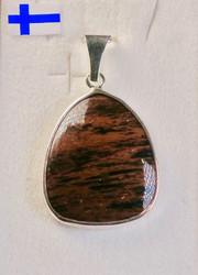 Riipus: Mahonkiobsidiaani kivi 22x18mm kokonaispituus 35mm. Unikki!