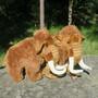 Pehmolelu Mammutti isoin, korkeus 33cm, 73cm kärsästä hännänpäähän