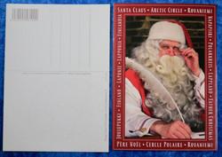 Postikortti Joulupukki ja sulkakynä