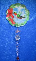 3-D Kolibri mobile ja kristallit spiraalissa