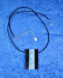 Riipus larimar, nauhassa 925-hopealukko, 44-49cm