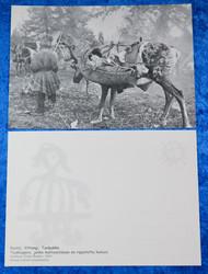Postikortti Taakkaporo jonka kantosatulaan on ripustettu komsio v.1933