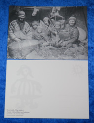 Postikortti Näkkäläjärven Jussan kodassa v.1916 Pöyrisjärvi Enontekiö