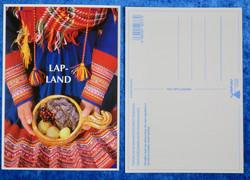 Postikortti Poroateria poronkäristys, puolukkahillo, perunat