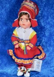 Nukke Lapinnukke 29 cm tyttö punaisessa lapinpuvussa