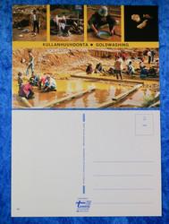 Postikortti kullan huuhdonta goldwashing