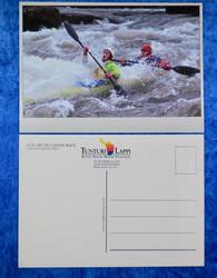 Postikortti koskenlaskua kanootilla