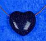 Kaulakoru tähtikivisydän, kimalteleva, tummansininen 3x3cm porattu