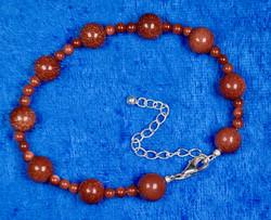 Rannekoru punaruskea kultavirta 18-22cm. Star1. Uniikki!