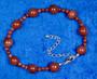 Rannekoru punaruskea aventuriini kultavirta 18-22cm. Star1