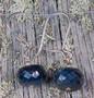 Korvakorut safiriini, tummansininen, viistehiottu nro1