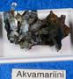 Akvamariinikiteitä ja mustaa turmaliinia, paino noin 23g (ak119)