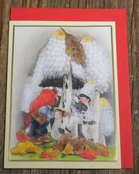 Postikortti ja kirjekuori: Tonttu sienimetsässä  sie1