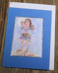 Postikortti ja kirjekuori: Lumikeiju tähti kädessä (koristeltu lasihelmin) kei1