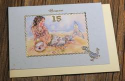 Postikortti ja kirjekuori: 15v, Merenneito (koristeltu lasihelmin) mer15