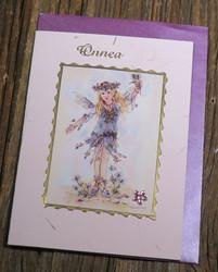 Postikortti ja kirjekuori: Keiju, Onnea (koristeltu lasihelmin) onn1
