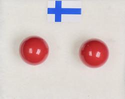 Nappikorvakorut helmiäinen joulunpunainen 8mm