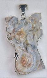 Riipus: akaattienkeli, enkeliriipus n. 25x38mm (K)