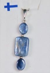Riipus: kyaniitti sininen, litteä (3os)