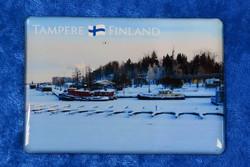 Magneetti Tampere Mustalahti ja Kortelahti laivat jäissä, talvimaisema