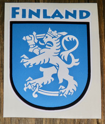 Tarra Suomileijona vaakuna, Finland 6x8cm