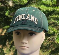 Lippis Finland, poro, vihreä suomilippis f13j