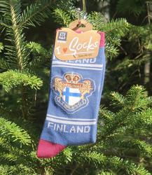 Nilkkasukat Suomenlippu original FINLAND, sininen, koko 40-45,  f17y