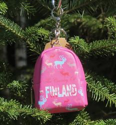 Pussukka wallet poro-Finland, repun mallinen pinkki, karbiinilukolla