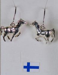 Korvakorut hevonen 925-hopea